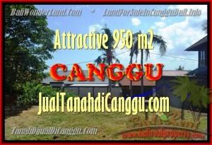 JUAL MURAH TANAH di CANGGU BALI 450 m2 View Sawah, lingkungan villa