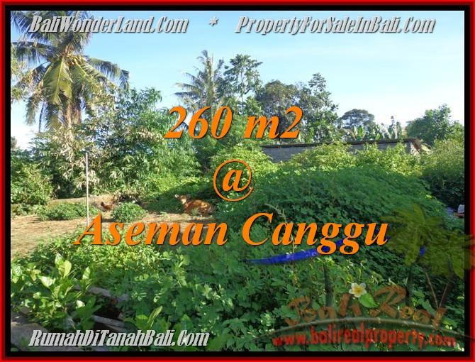 DIJUAL MURAH TANAH di CANGGU 2,6 Are di Canggu Brawa