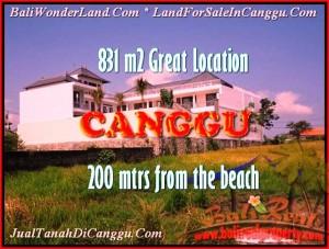 TANAH MURAH di CANGGU JUAL 8,31 Are lingkungan villa