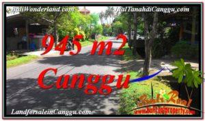 TANAH di CANGGU BALI DIJUAL 945 m2 Lingkungan Villa