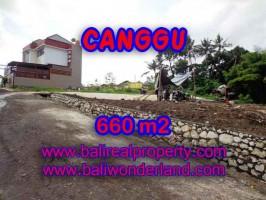 Murah ! Tanah di CANGGU Bali Dijual TJCG149 - investasi property di Bali