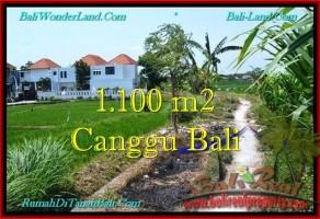 JUAL TANAH di CANGGU BALI 1,100 m2 di Canggu Brawa